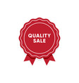 quality sale label market tag design vector image vector image