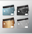 realistic credit card set vector image