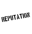 Reputation black rubber stamp on white vector image vector image