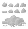 rock stones set in isometric style vector image
