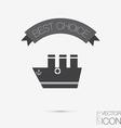 sailing ship symbol icon boat steamer sailboat vector image