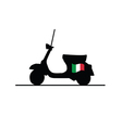 scooter with italy flag vector image vector image
