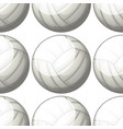 seamless pattern tile cartoon with volleyball vector image