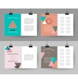 Set of colorful vintage cards with hipster vector image