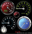 set of speedometer and counter vector image vector image
