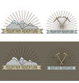 set of vintage line craft labels mountain vector image vector image