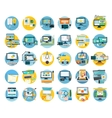 Set of Web Design Icon Flat Concept vector image vector image