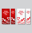 set vertical web banners happy valentines day vector image vector image