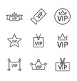 set vip icons vector image