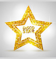 silhouette of gold disco star sign vector image