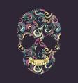 Skull Swirl Ornamental vector image vector image