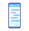 smartphone chat interface template