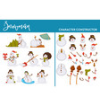 snowman character construction winter holiday and vector image