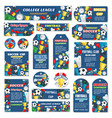 soccer cup football leagu game tags vector image vector image