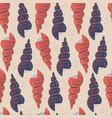 spiral seashells flat hand drawn seamless pattern vector image vector image