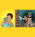 state wiretapping conversations spy listens vector image vector image