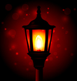 Street lamp - lantern on pole and blured vector image vector image
