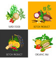 superfood banners set vector image vector image