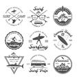 Surfing Emblem Set vector image vector image