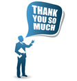 thank you man vector image vector image