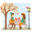valentines date vector image