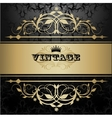 Vintage background with golden pattern vector image vector image