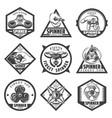 vintage popular spinner labels set vector image