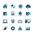 Web Developer Icons Azure Series vector image vector image