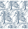 zebra animal art line modern seamless pattern vector image