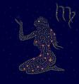 Zodiac sign Virgo over starry sky vector image vector image