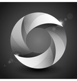 Moebius origami gray and white paper circle vector image