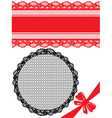Floral seamless lace pattern with flowers - Lace vector image