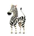 african animal zebra 3d character design vector image
