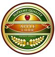 Apple Cider Vintage Label vector image vector image