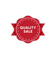 best quality product market tag design vector image vector image