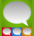 big speech bubbles with space vector image