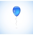 Blue balloon isolated on white background vector image vector image