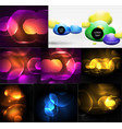 blurred neon shiny backgrounds vector image