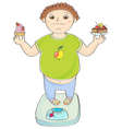 Boy with overweight vector image