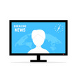 breaking news with anchorwoman vector image