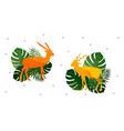 colorful watercolor blackbuck deer pattern vector image