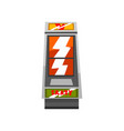 crazy slot machine on a white vector image vector image