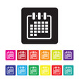 date organising icon set vector image vector image