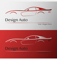 design car with business card template vector image vector image