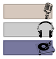DJ Banners Set vector image vector image