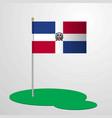 dominican republic flag pole vector image