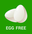 egg free logo icon flat for vector image