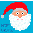 Face of Santa Claus Snowflakes Merry Christmas vector image vector image
