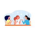 female friends drinking girls meeting women vector image vector image
