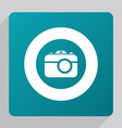 flat photo camera icon vector image vector image
